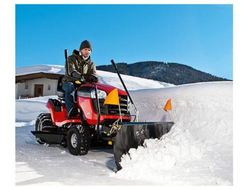 Rasentraktoren und Aufsitzmäher günstig mit Schneeschild Winterdienst Winterpaket