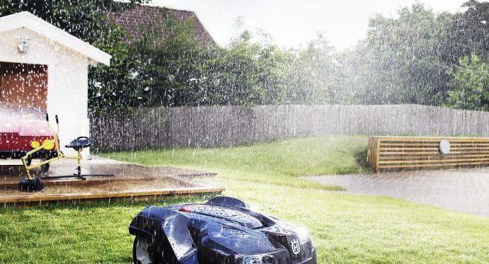 Husqvarna Automower Mähroboter mäht auch im Regen günstig kaufen