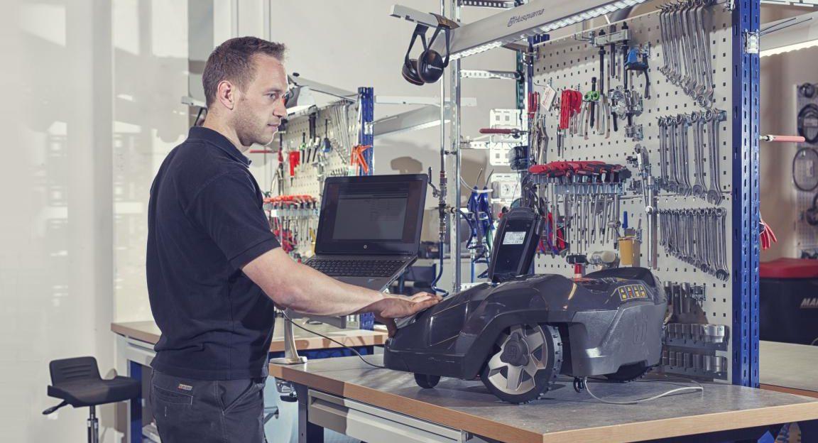 Husqvarna Automower Experte Service Werkstatt Reparatur Ersatzteile günstig kaufen
