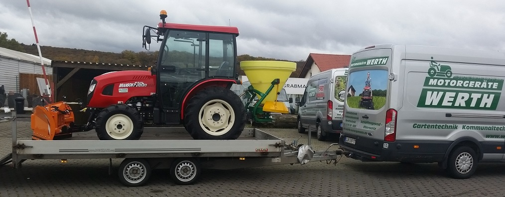 Traktor Branson Kommunaltraktor für Winterdienst Schneeschild Streuer Kabine günstig kaufen
