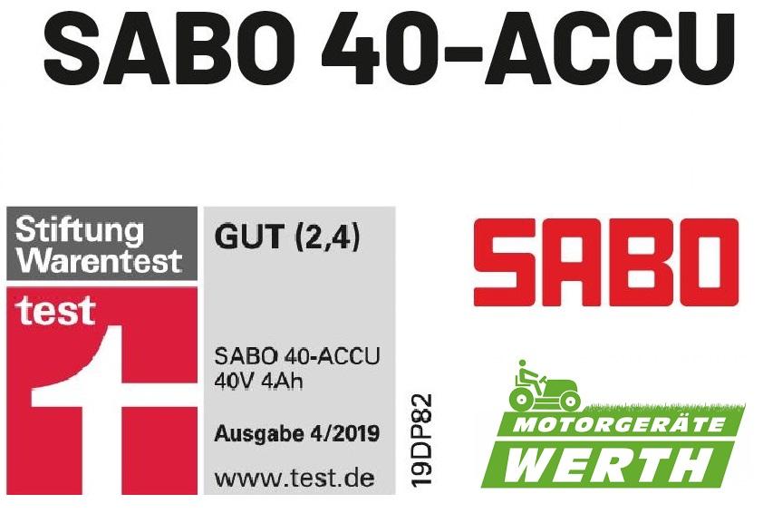 Akku Rasenmäher Sabo 40-Accu Stiftung Warentest günstig kaufen