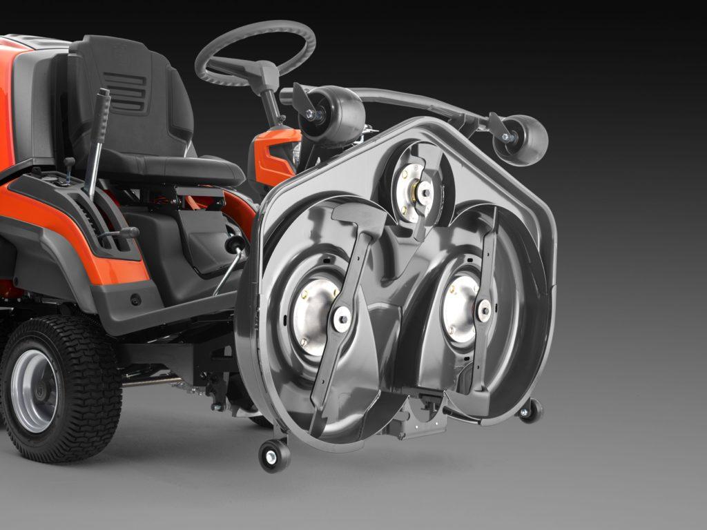 Rasentraktor Husqvarna Rider RC 320Ts AWD Frontmäher mit Fangkorb Mähwerk Serviceposition hochklappbar günstig kaufen