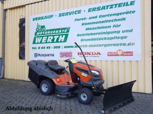 Rasentraktor Husqvarna TC 238T Schneeschild Winterpaket günstig kaufen