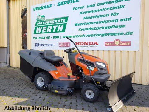 Rasentraktor Husqvarna TC 242T Schneeschild Winterpaket günstig kaufen