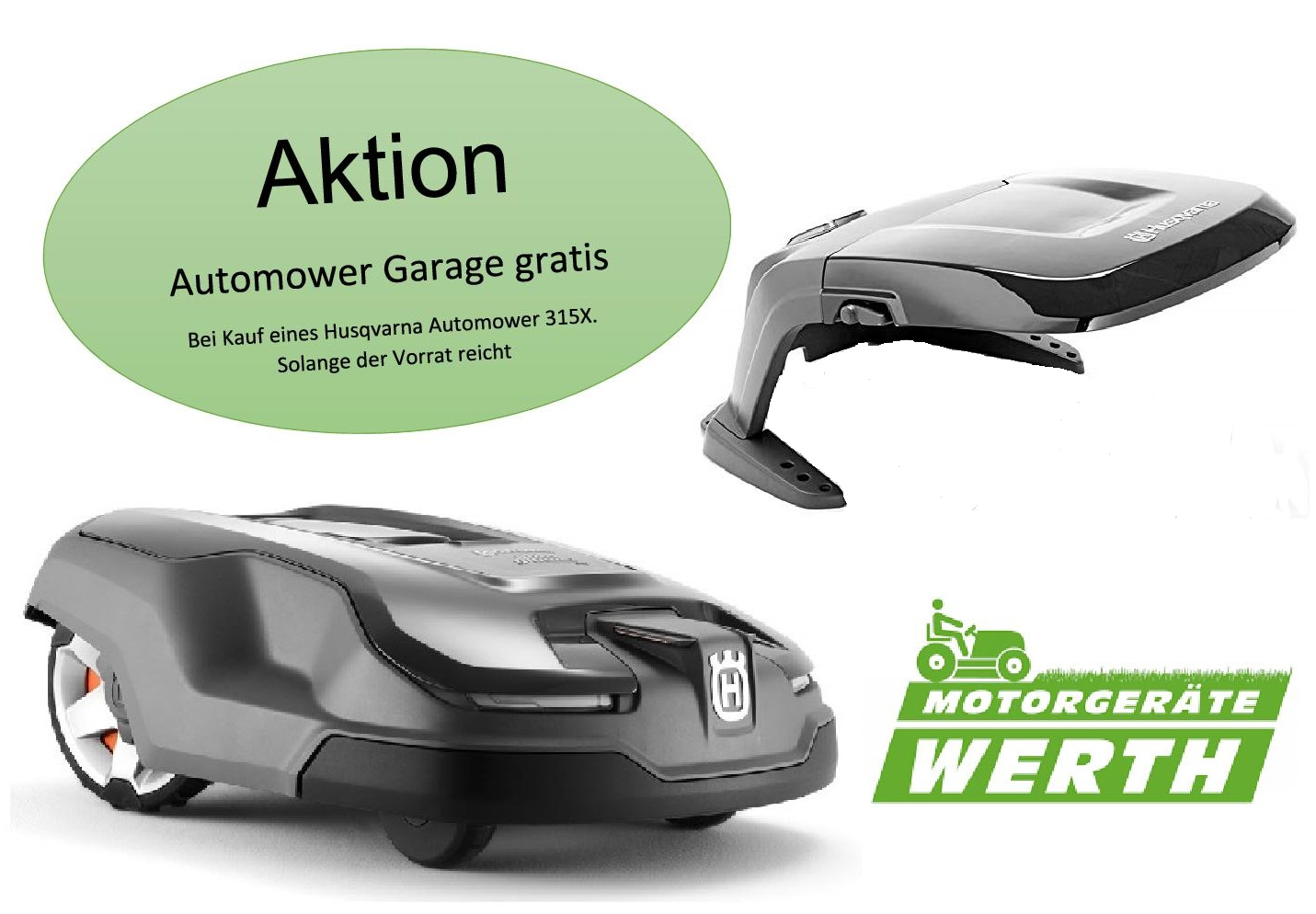 Husqvarna Automower 315X Aktion Garage gratis