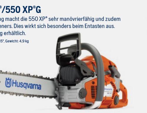 Motorsäge Husqvarna 550XP und 550XPG  ***100,- € Gutschein auf Zubehör***