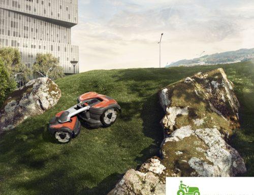Husqvarna Automower 535 AWD bis 70% Steigung – ein echter Bergsteiger – Die Allrad Neuheit für 2019