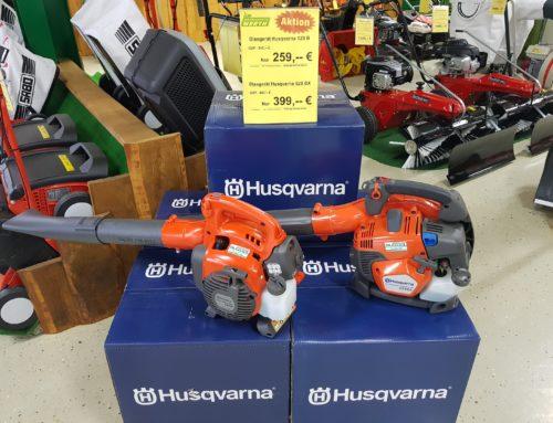 Blasgerät Husqvarna 125 B und Blasgerät Husqvarna 525 BX jetzt bei Werth Motorgeräte günstig kaufen in der Herbstaktion