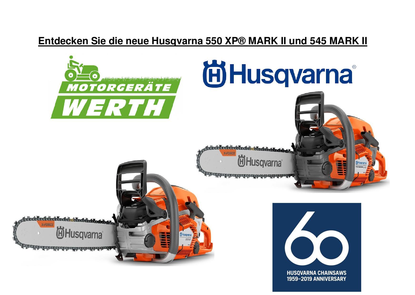 Husqvarna Motorsäge Neuheit 550XP Mark 2 und 545 Mark 2 günstig kaufen
