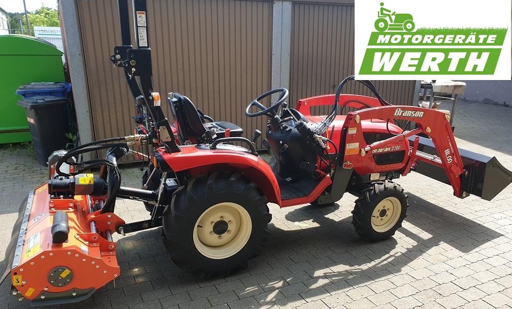 branson traktor 2200 mit schlegelmäher und frontlader günstig kaufen