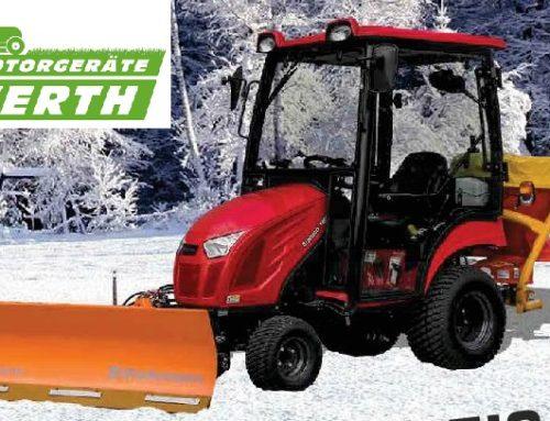 Branson Traktoren startet Aktion Winterpakete mit Schneeschild und Tellerstreuer für Winterdienst