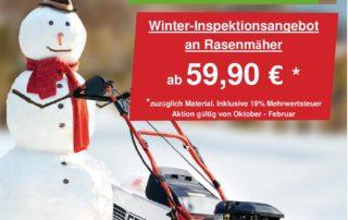 rasenmäher inspektion service reparatur winter angebot