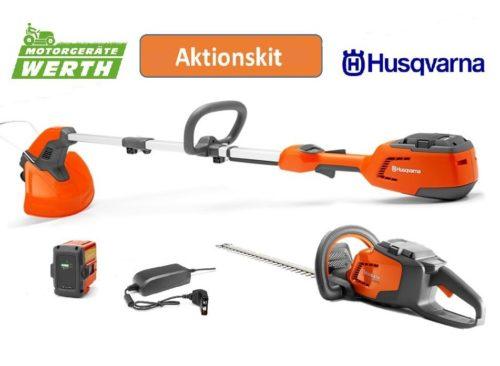 Husqvarna Akku Angebot Vorteilspaket Akku-Trimmer 115iL Akku-Heckenschere 115iHD45 Aktion