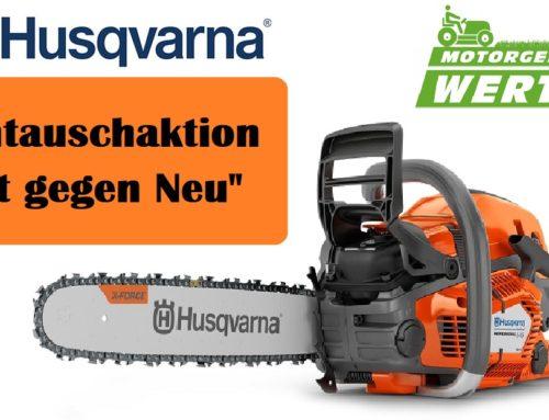 Motorsäge Husqvarna 545 II Umtauschaktion: 100,- € für die alte Säge