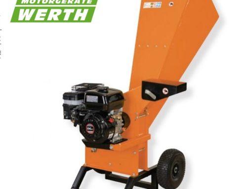 Neuer Gartenhäcksler mit Benzinmotor ab sofort bei Werth Motorgeräte
