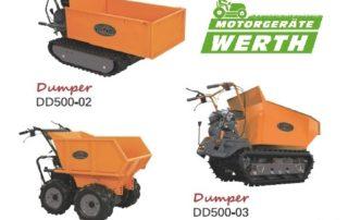 Raddumper Minidumper Raupendumper DINO Benzinmotor Allrad günstig kaufen