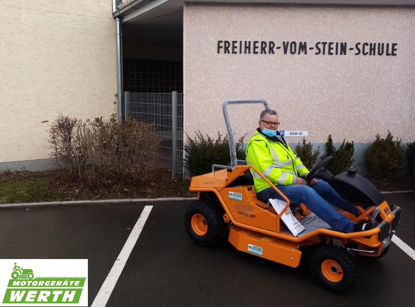 Hochgras-Aufsitzmäher AS 920 Sherpa 2WD Kundenübergabe Erfahrung Händler kaufen