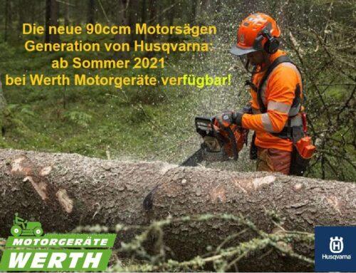 Husqvarna kommt mit neuer Motorsägen-Serie in der 90 Kubik-Klasse