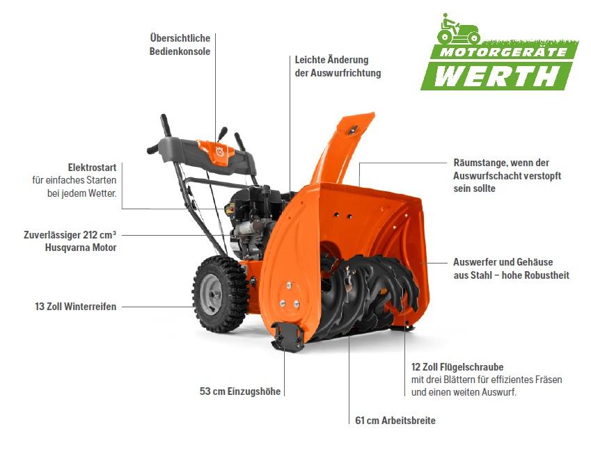 Schneefräse Husqvarna ST124 mit Elektrostart günstig kaufen